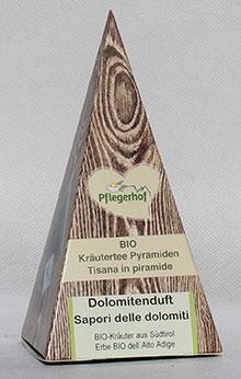 Dolomitenduft (3 aromatische, biologisch abbaubare Kräuterpyramiden)